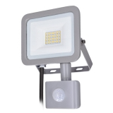 Solight LED reflektor Home se sensorem, 20W, 1500lm, 4000K, IP44, šedý