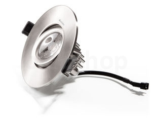 VERBATIM LED Downlight 12W chrom 3000K 675LM 40° DIM