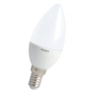 LED žárovka Sandy LED S1215 C37 E14 5W 3000K 420lm
