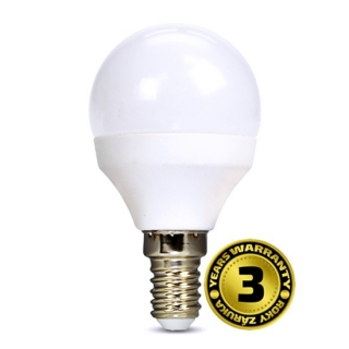 Solight LED žárovka, miniglobe, 8W, E14, 3000K, 720lm
